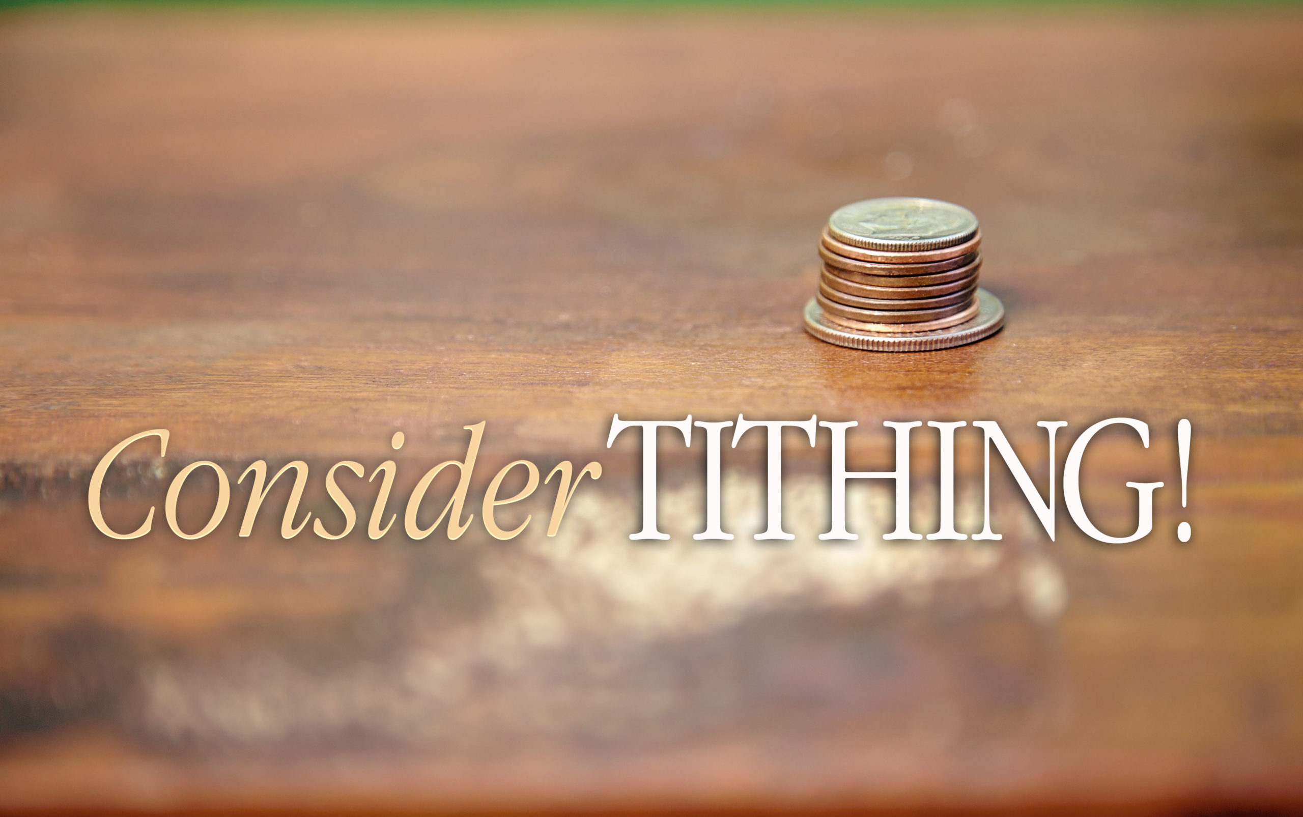 consider tithing