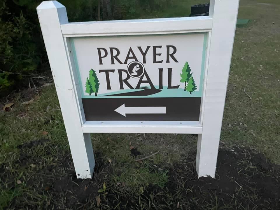 Prayer trail sign